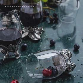 宜样生活 手工精雕花朵水晶杯 单个价 12款花型可选