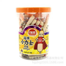 江浙沪皖整箱包邮韩国进口食品海牌思潮小力士鱼肠10g100个罐