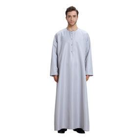 穆斯林男士纯色简约长袍,礼拜服 | 包邮