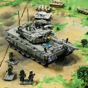 【德国装甲】精品仿真豹2坦克模型积木