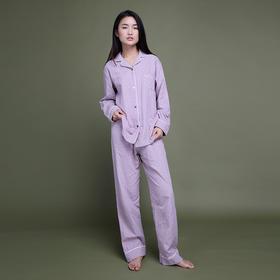 全棉双层纱基础套装 粉紫色女款