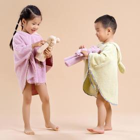 全棉毛巾草木染儿童斗篷 天然染料 健康亲肤