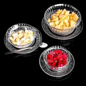 创意玻璃碗水果碟子餐具透明碗盘米饭甜品西瓜沙拉碗家用碗碟套装