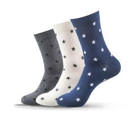 小星星中筒袜(3双)