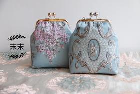 欧式浮雕提花口金包 DIY材料包 非成品