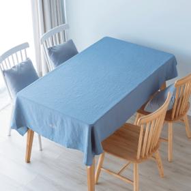 纳谷 | Hygge系列纯色苎麻刺绣桌布