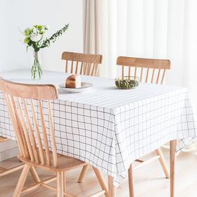 纳谷 | Slowly 黑白格纹防水桌布