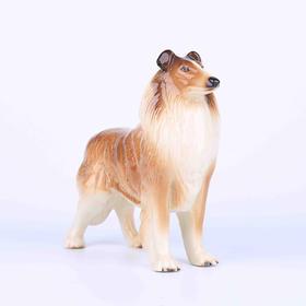 【菲集】1950年苏格兰柯利犬陶瓷摆件 艺术品收藏品 跨境直邮