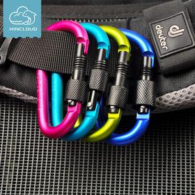 登山扣d型户外装备多功能挂钩快挂伸缩钥匙扣背包配件安全扣挂扣