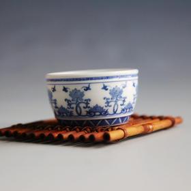 睿延斋 乾隆八组莲纹缸杯