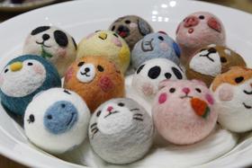 动物版羊毛毡——团团圆圆  材料包