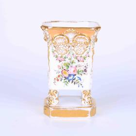 【菲集】1830年经典法国手绘方形花瓶 瓷器 轻古董 跨境直邮