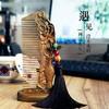 【周广胜木梳】绿檀木花影木梳丨花影丨全国包邮 商品缩略图2