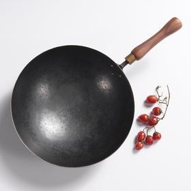 【匠人手打系列】 日本进口99%高纯度铁制作 璞极极致好铁锅 不生锈不粘锅