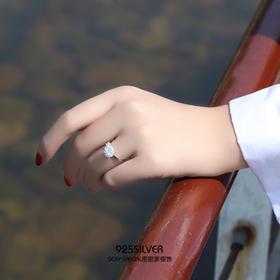 925银抖音网红同款时来运转旋转戒指女纯银日韩潮人学生个性指环