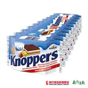 德国进口 knoppers牛奶榛子巧克力威化饼干 (10连包,250g)【拍前请看温馨提示】