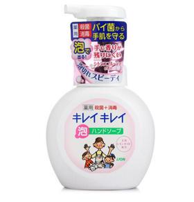 日本狮王(Lion)全植物泡沫洗手液250ml日本原装进口