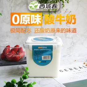 新疆西域春原味酸奶 1000克2斤大桶装 水果捞酸奶