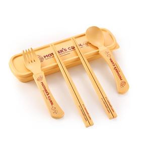 原装进口Mother'sCorn妈米玉米餐具随身装 便携餐盒