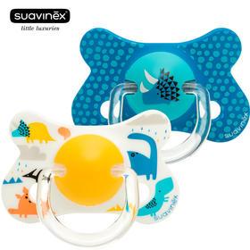 苏维妮suavinex拇指型乳胶安抚奶嘴+18个月欧洲原装进口柔软自然