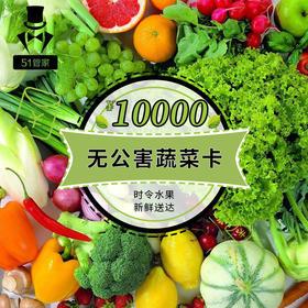 10000元无公害蔬菜券