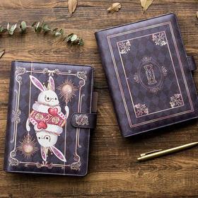 复古活页可爱童话兔A5手账本套装