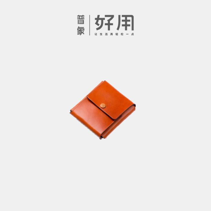 CUTO LOFT一张皮折叠的手工钱包 无开缝 无车线【D】