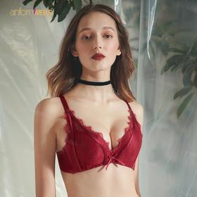 巴黎女人的魅力  细致诱人的法式蕾丝内衣【套装】    美睫花边点缀  【A-B杯都可以穿】1112019