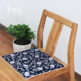 「 艾绒坐垫」 蕲艾艾绒 温经散寒 手工工艺蓝印花布