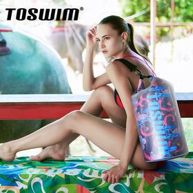 TOSWIM 沙滩收纳袋泳衣背包、防水干湿分离包,防水升级,15L 容量,干湿分离,时尚花色,4 款可选!