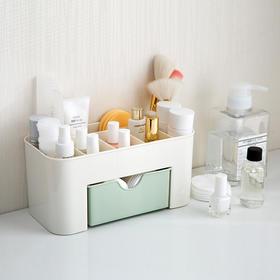 【小设计 大用途】巧居家带抽屉梳妆收纳盒 环保材质 分格设计 一物多用