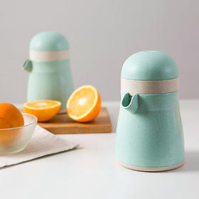【小设计 大用途】巧居家手动榨汁机 小麦秸秆材质 人性化设计 自己动手安全卫生