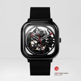 【德国红点奖、IF奖双料得主】CIGA Desig 玺佳全镂空机械手表 双面镂空设计 有品定制