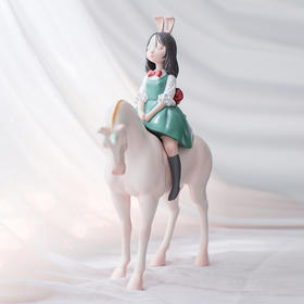 奇居良品 白夜童话梦马 北欧家居装饰品样板房摆件创意礼物雕塑