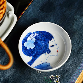 二十四器釉下手绘青花瓷美人杯景德镇主人品茗杯功夫茶杯陶瓷单杯