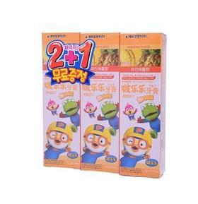 韩国啵乐乐儿童牙膏菠萝口味3只装90G