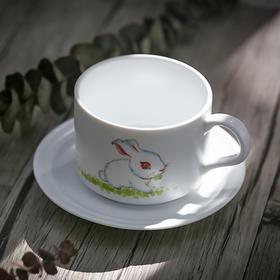 陶溪川景德镇创意陶瓷咖啡杯套装小清新手绘现代简约水杯带碟茶杯