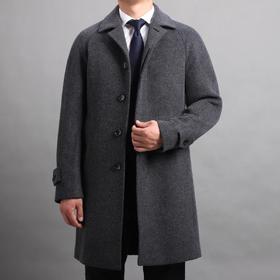 仕族100%羊毛巴尔玛肯大衣
