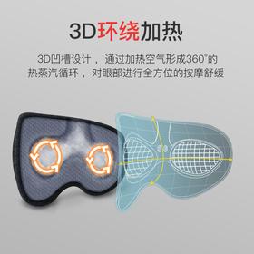 【5分钟入睡3D环绕加热】缓解眼部疲劳助眠热敷眼罩