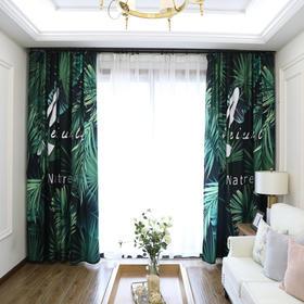 【热带雨林】北欧风芭蕉叶数码印花-丝绒麻