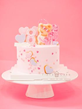 小熊定制饼干奶油蛋糕