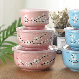 色釉保鲜碗(粉蓝色)
