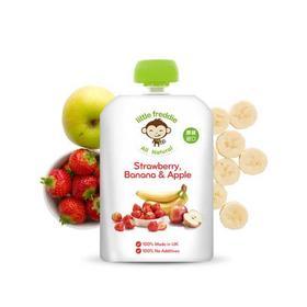 英国小皮香蕉草莓苹果泥