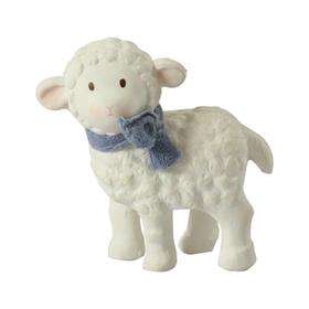 莉娜小羊乳胶牙胶摇铃玩具-蓝色