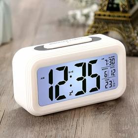 闹钟创意学生可爱多功能电子钟智能静音床头卧室简约儿童数字闹铃