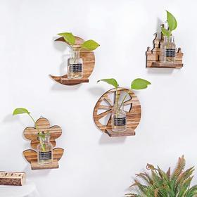 创意家居装饰品墙饰挂饰养殖花器房间壁挂水培花绿萝透明花瓶挂墙