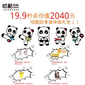 【爆款!亲子卡价仅需19.9】29.9抢价值2040元哈酷跆拳道体验礼包!