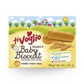 意大利原装进口 爱宝喜多婴幼儿钙奶营养饼干 适合6个月以上婴幼儿  180g