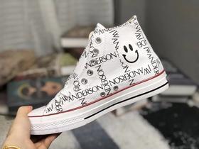 【情侣款】2018新款帆布鞋匡威 Converse x JW Anderson chuck 70 grid 联名JWA字样