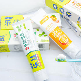 植物水果美白牙膏 4支牙膏 清火去口臭 去烟渍美白清新口气 全国包邮